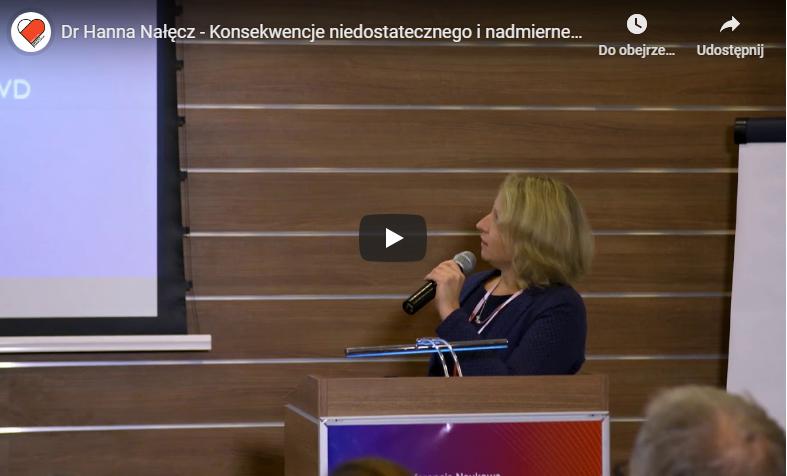Dr Hanna Nałęcz – Konsekwencje niedostatecznego i nadmiernego wysiłku fizycznego dzieci i młodzieży